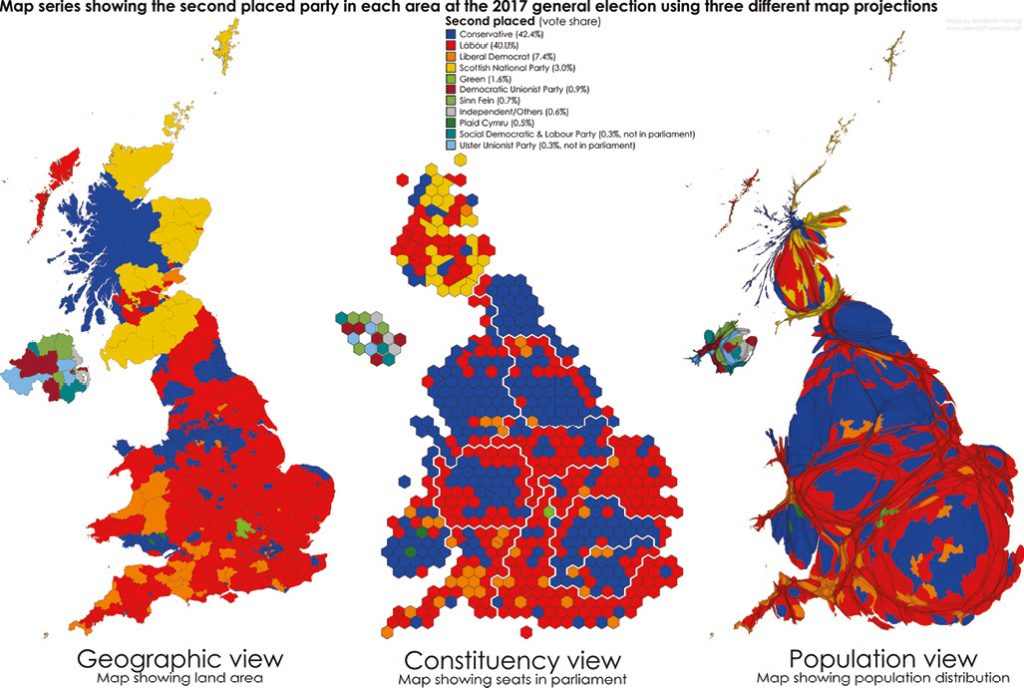Map Of Uk General Election Results.Cartographic Perspectives Of The General Election Election Analysis